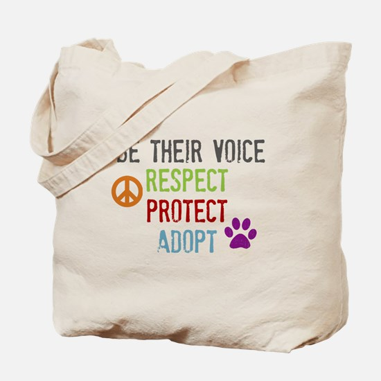 Respect Protect Adopt Tote Bag