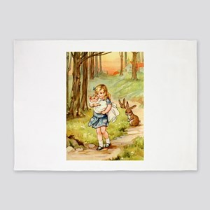Alice and the Pig Baby 5'x7'Area Rug