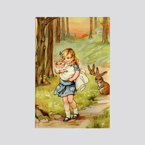 Alice and the Pig Baby Rectangle Magnet
