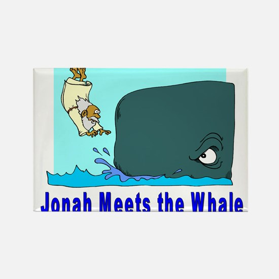 Jonah and the Whale Rectangle Magnet