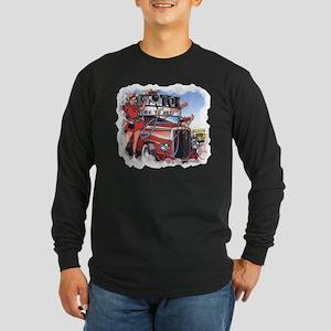 Fabulous Fifties Drive Inn Long Sleeve Dark T-Shir