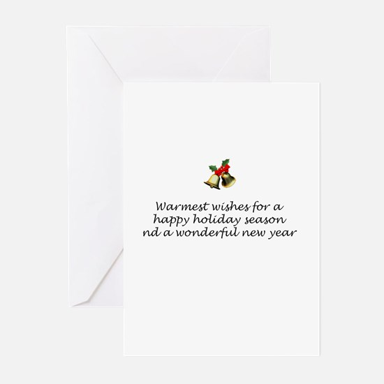 CARD INSIDE-Warmest wishes.... Greeting Cards