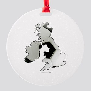 UK Soccer Round Ornament
