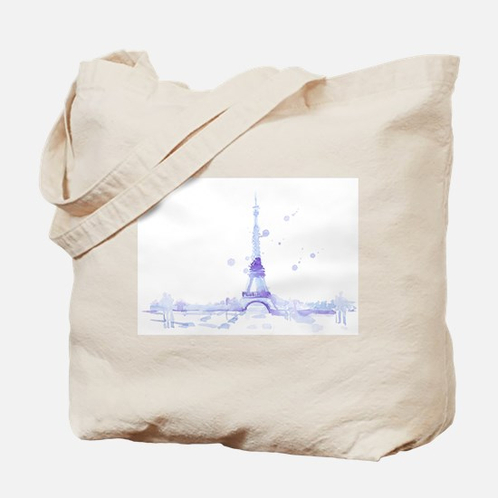 Abstract Eiffel Tower Tote Bag