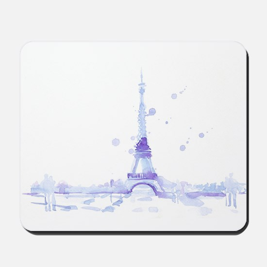 Abstract Eiffel Tower Mousepad