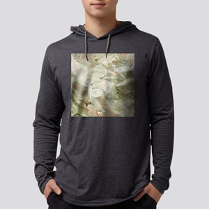 Rose quartz crystals, SEM Mens Hooded Shirt