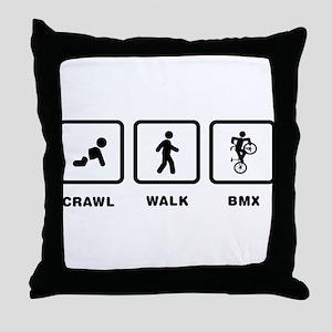 Freestyle BMX Throw Pillow
