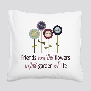 Garden Of Life Square Canvas Pillow