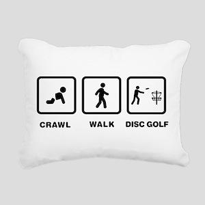 Disc Golfing Rectangular Canvas Pillow