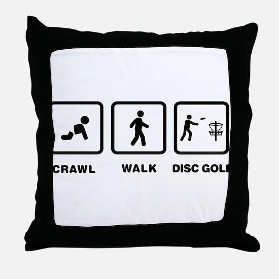 Disc Golfing Throw Pillow