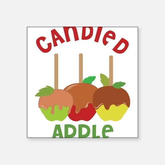 "Candied Apple Square Sticker 3"" x 3"""