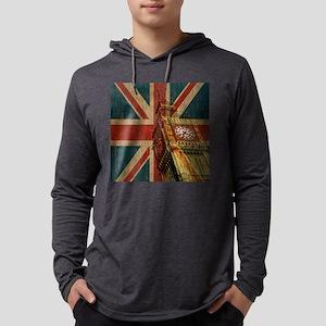 Vintage Union Jack Mens Hooded Shirt