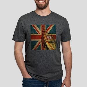 Vintage Union Jack Mens Tri-blend T-Shirt