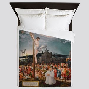 Curifixion and Ascension of Christ Queen Duvet