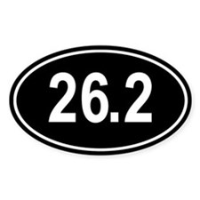 26.2 Marathon Oval Sticker (Oval)
