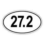 27.2 Go The Extra Mile Oval Sticker (Oval)