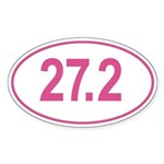 Pink Go The Extra Mile Sticker (Oval)