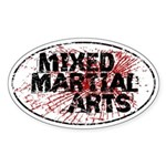 Mixed Martial Arts Sticker (Oval)