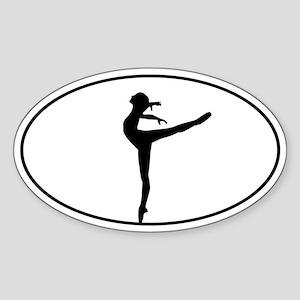 Ballet Dancer Sticker (Oval)