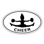 CHEER Toe Touch Sticker (Oval)