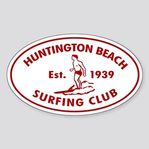 Huntington Beach Surfing Club Auto Sticker (Oval)