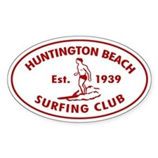 Huntington Beach Surfing Club Auto Sticker (Oval)
