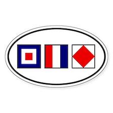 WTF Flags Sticker (Oval)