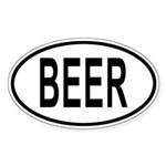 BEER Auto Sticker (Oval)