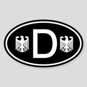 Black D sticker with German Eagles
