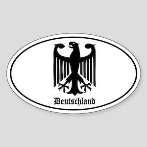 Deutschland (German) Eagle Sticker (Oval)