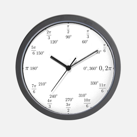 Unique Math Wall Clock