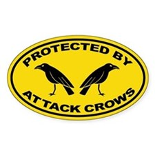 Protected By Attack Crows Sticker (Oval)