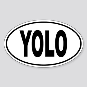 YOLO Sticker (Oval)