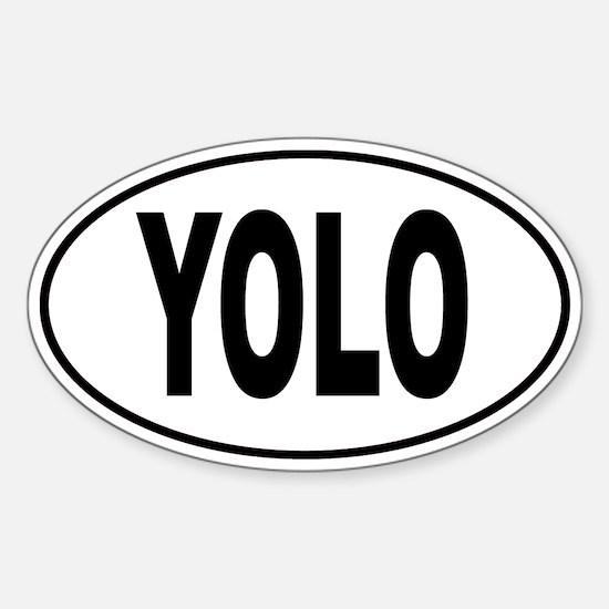 YOLO Sticker (Oval)