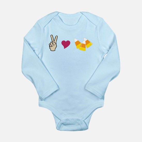 Peace Love Candy Long Sleeve Infant Bodysuit