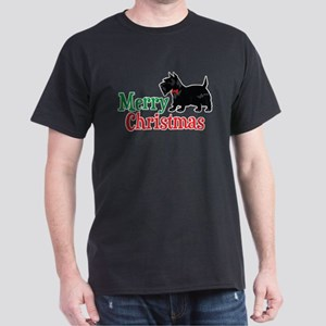 Christmas Scottish Terrier Dark T-Shirt