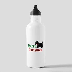 Christmas Scottish Terrier Stainless Water Bottle