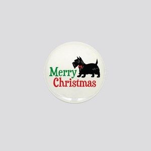Christmas Scottish Terrier Mini Button