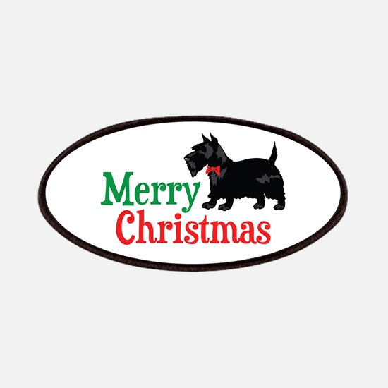 Christmas Scottish Terrier Patches