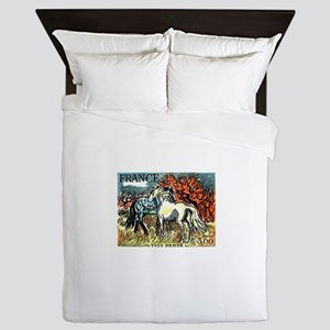 1978 France Horses Painting Stamp Queen Duvet