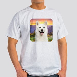 White Husky Meadow Light T-Shirt