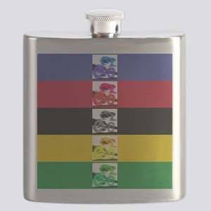 world champ stripes Flask