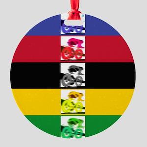 world champ stripes Round Ornament