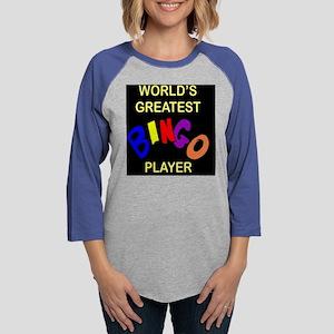 great bingo plyr blk plw Womens Baseball Tee