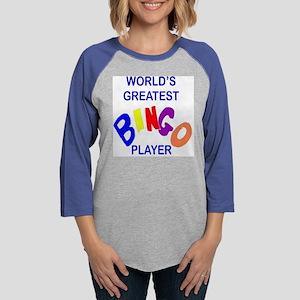 greatest bingo plyr pllw Womens Baseball Tee