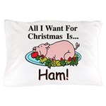 Christmas Ham Pillow Case