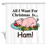 Christmas Ham Shower Curtain