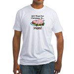 Christmas Ham Fitted T-Shirt