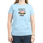 Christmas Ham Women's Light T-Shirt