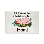 Christmas Ham Rectangle Magnet (10 pack)